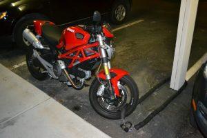 Motorcycle Locks - padlock and chain